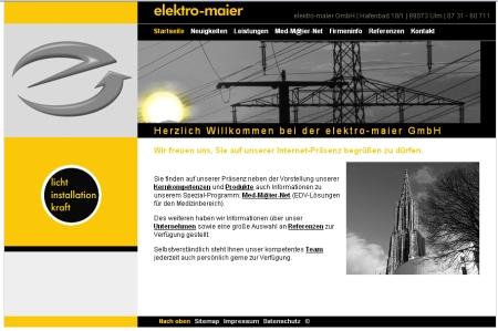 Elektroinstallationen Ulm, Elektro-Maier