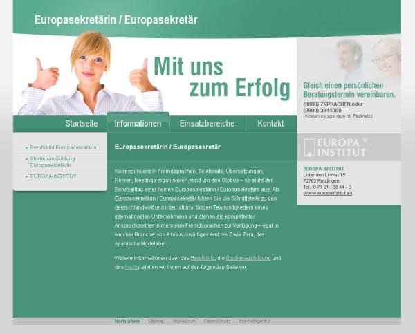 Europasekretärin / Europasekretär - Homepage