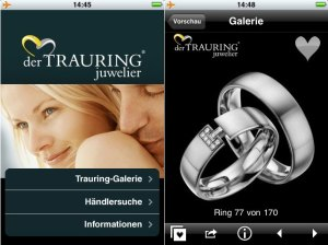 iPhone-App Trauringe - derTRAURINGjuwelier