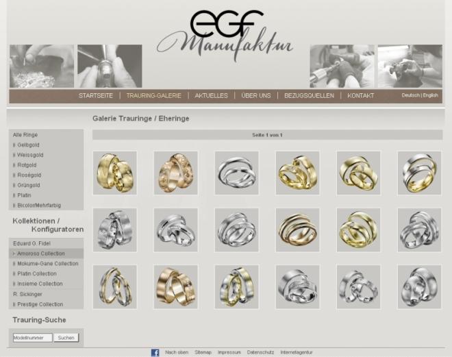Neues Webdesign bei egf aus Pforzheim