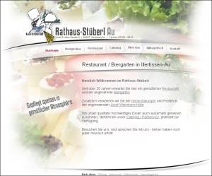 Seit über 25 Jahren erwartet Sie im Rathaus-Stüberl ein gemütliches Restaurant und ein angenehmer Biergarten.