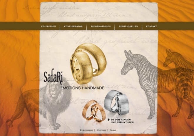 Safari Trauringe