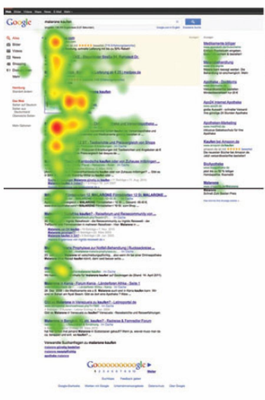 Studie zur Wahrnehmung der Google Suchergebnisse