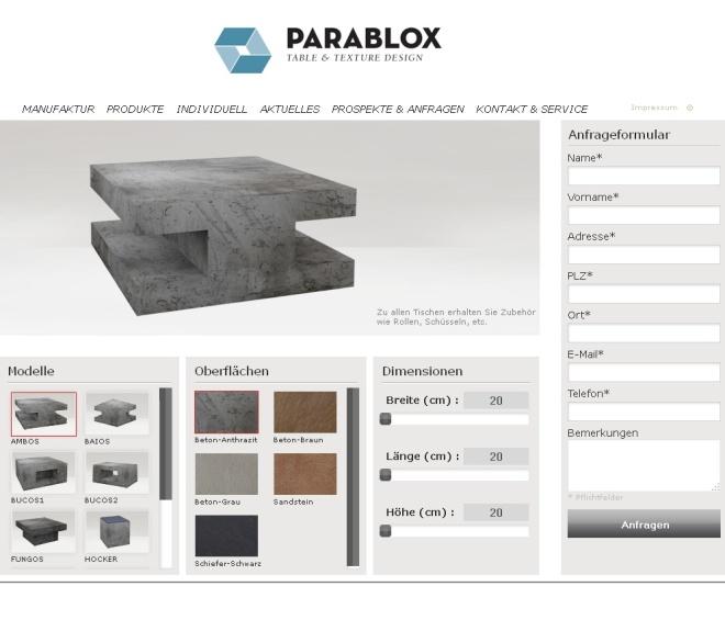 Parablox Konfigurator